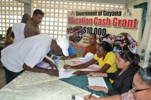 Flashback: Parents registering for the cash grant