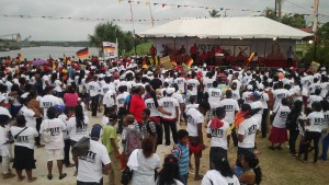 A section of the crowd at PPP's Linden rally