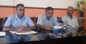 RPA President Laekah Rambrich [center) flanked by other RPA Members. [iNews' Photo]