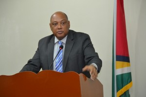 Minister of Governance, Raphael Trotman. [Jules Gibson Photo]