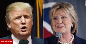 Donald Trump and Hillary Clinton leading in the race to the White House