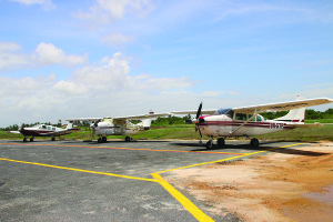 Light aircraft parking ramp launched at Ogle Int'l Airport