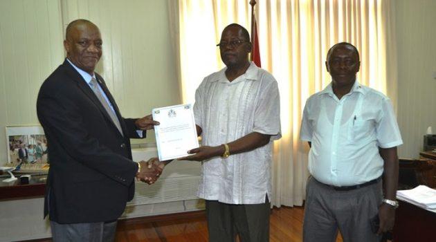GUYOIL Report handed over to Minister Harmon