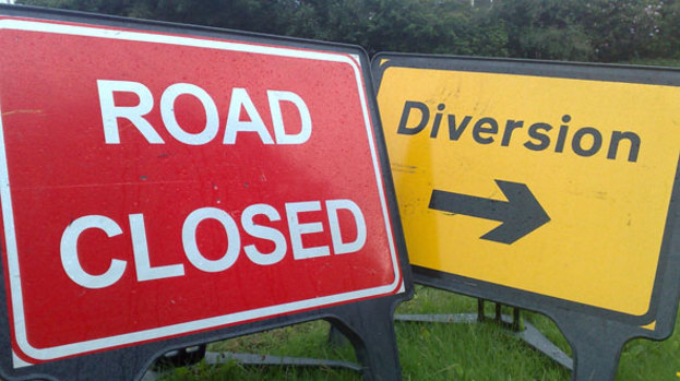 Carifesta Ave closed to vehicular traffic to facilitate asphalt work