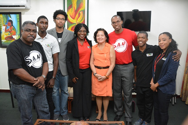 First Lady, Mrs. Sandra Granger was paid a courtesy call by members of the Guyana Animation Network and the Suriname Animation Network at her office at State House, Georgetown