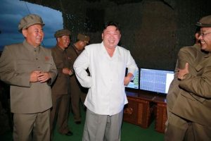 North Korean leader Kim Jong Un is pictured during a test-fire of strategic submarine-launched ballistic missile in this undated photo released by North Korea's Korean Central News Agency (KCNA) in Pyongyang August 25, 2016. REUTERS/KCNA