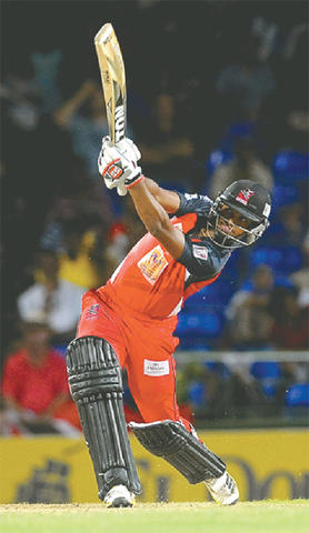 Nicholas Pooran topscored with 47 from just 23 balls (TT Guardian photo)
