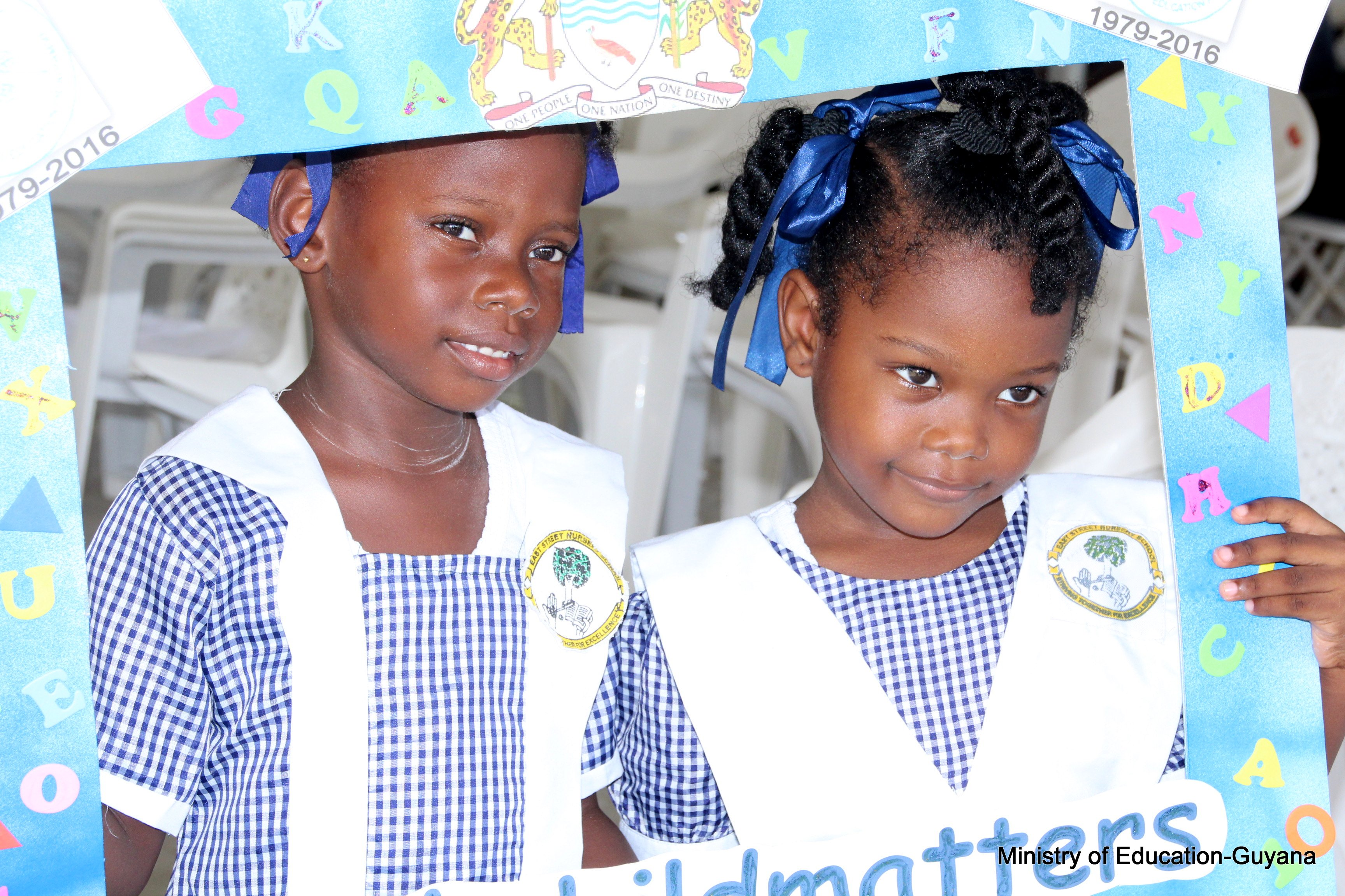 Pupils of East Street Nursery School at the launch of the Guyana Nursery Education 40th Anniversary Observances