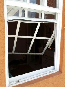 The bandits gain entry into the Attorney-at-Law's home through this back window