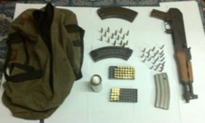 The high powered weapon and ammunition cache