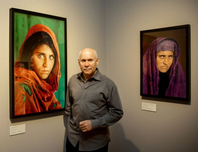 Sharbat Gula was famously photographed by Steve McCurry (pictured) - who tracked her down again 17 years later (Photo: AFP/  Getty Images)