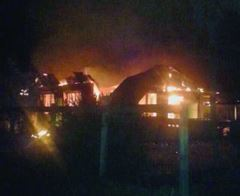 Fire ravages the couple's Onderneeming home
