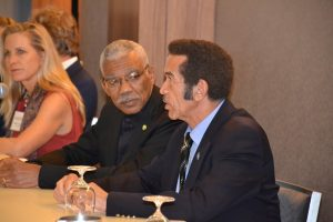 President David Granger met with President Ian Khama of Botswana today at Conservation International's annual Board meeting in Washington D.C.