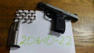 The firearm and ammunition found during last night's search