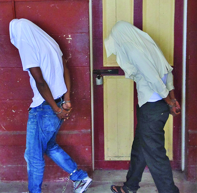 The murder accused at the Georgetown Magistrates' Courts