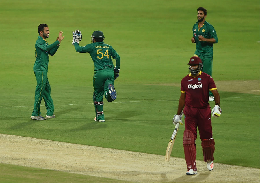 Kieron Pollard made 43 runs in three T20Is and 42 runs in three ODIs against Pakistan in the UAE (Photo: Getty Images)