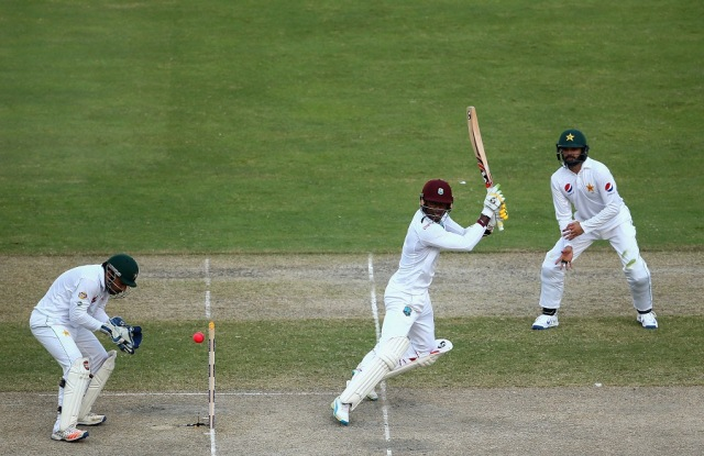 Marlon Samuels was strong on the cut and the drive (Photo: Getty Images)