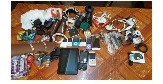 Some of the stolen articles recovered