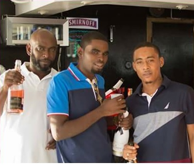 Frank Joseph, left, his son Kevin Plaza and Plaza's best friend Ricardo Singh, who were murdered in D'Abadie on Saturday.