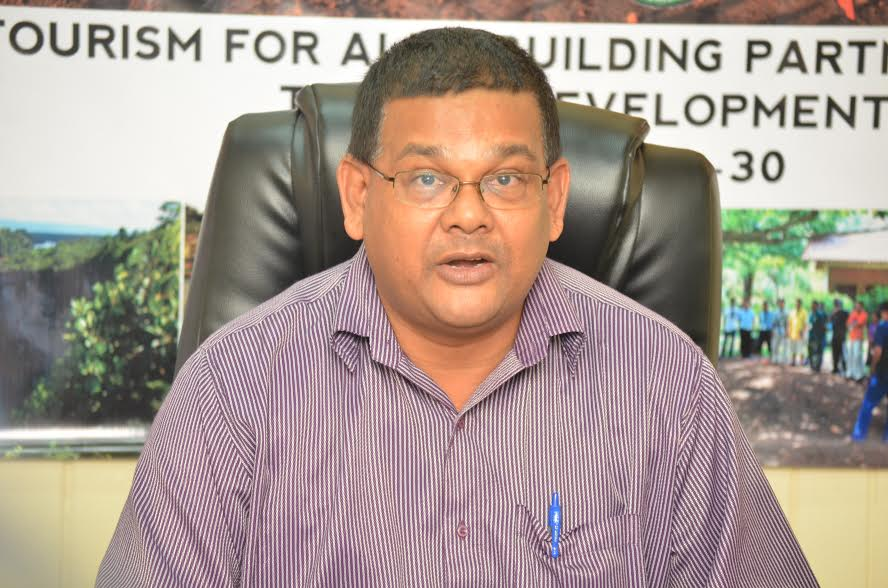 Director of the Guyana Tourism Authority, Indranauth Haralsingh, at the launch of the fourth annual South Rupununi Safari