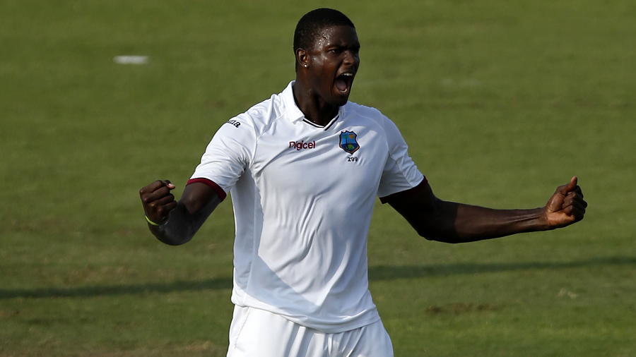 Jason Holder took three wickets before Pakistan managed to wipe out their first-innings deficit of 56 in Sharjah (Photo: Getty Images)