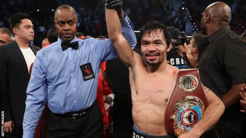 Manny Pacquiao beat Vargas in only his second fight since his defeat by Floyd Mayweather in October 2015 (Getty Images)