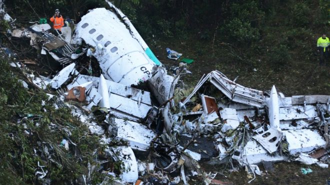 The plane was travelling from Brazil via Bolivia (AP image)