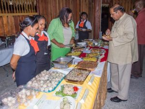 Prime Minister Moses Nagamootoo at the 'Rice Cocktail' event (Photo from PM office)