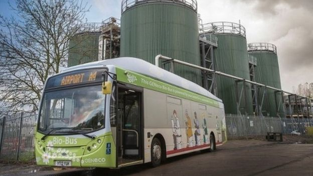 A single passenger's annual food and sewage waste can fuel a Bio-Bus for 37 miles (60km) (PA Image)