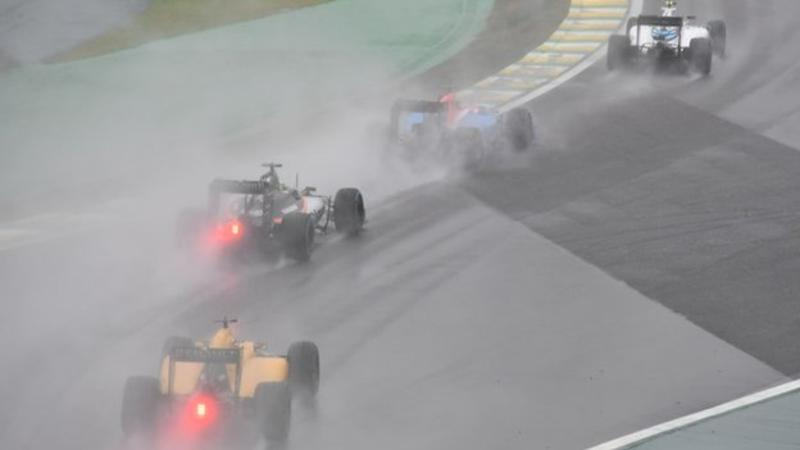 The race took place in torrential conditions