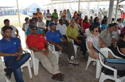Gathering at the opening of the 16th Rupununi Expo