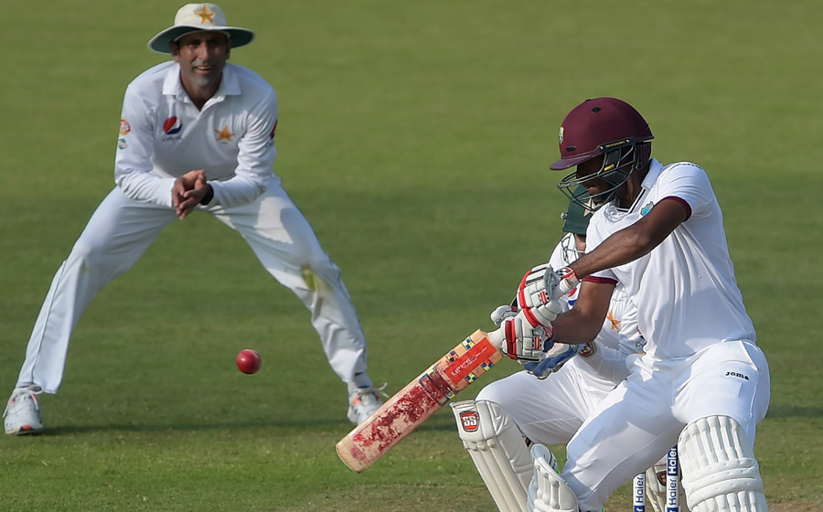 Toby Radford on Kraigg Brathwaite: 'He is very unflappable as a character. When he gets into his bubble, he just wants to bat' (Photo: AFP)