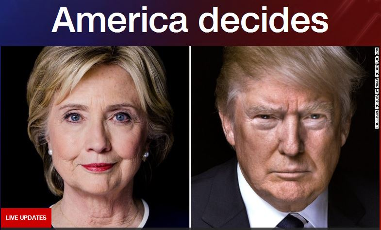 HOMESTRETCH IN RACE TO WHITE HOUSE: Hillary Clinton and Donald Trump (CNN image)
