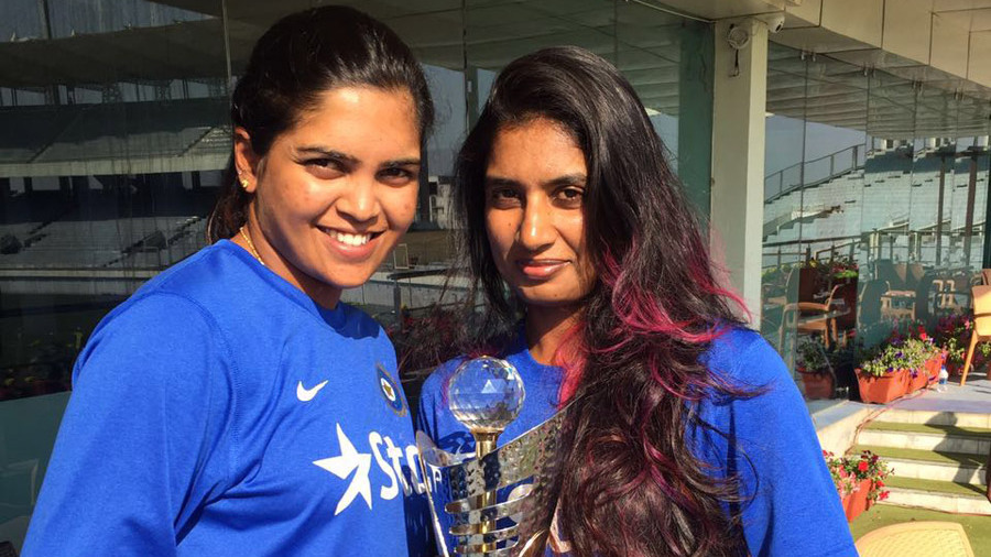 File photo - Veda Krishnamurthy and Mithali Raj helped India steer clear of a top order wobble (Photo:Veda Krishnamurthy/ ESPNCricinfo)