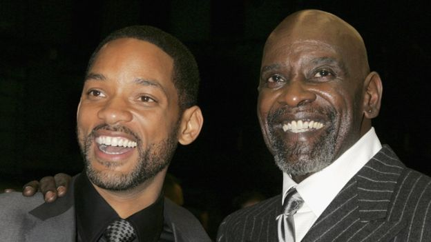 Chris Gardner with Will Smith, who played him on the big screen (Getty Images)