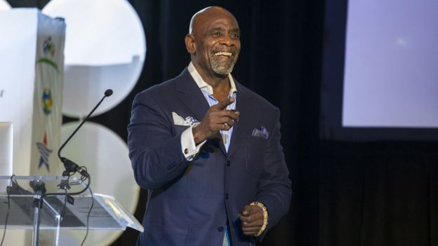 Mr Gardner has built a new career as a motivational speaker (Chris Gardner )
