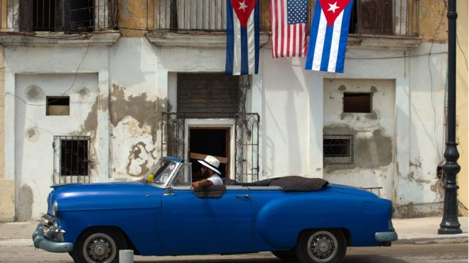 Diplomatic relations between Cuba and the US were restored in 2015 (EPA Image)