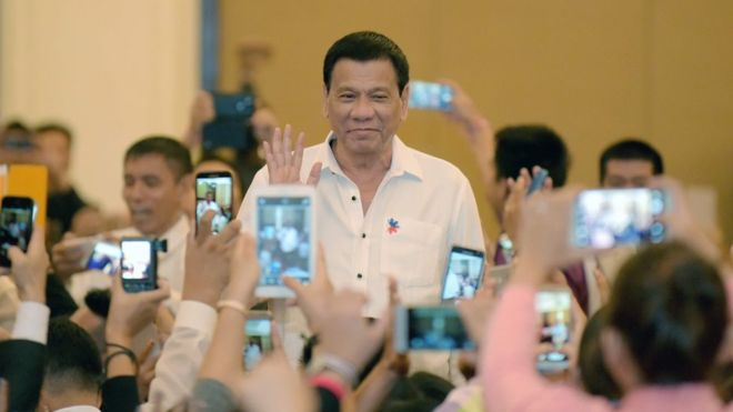 Mr Duterte is still very popular with Filipino voters (AFP photo)