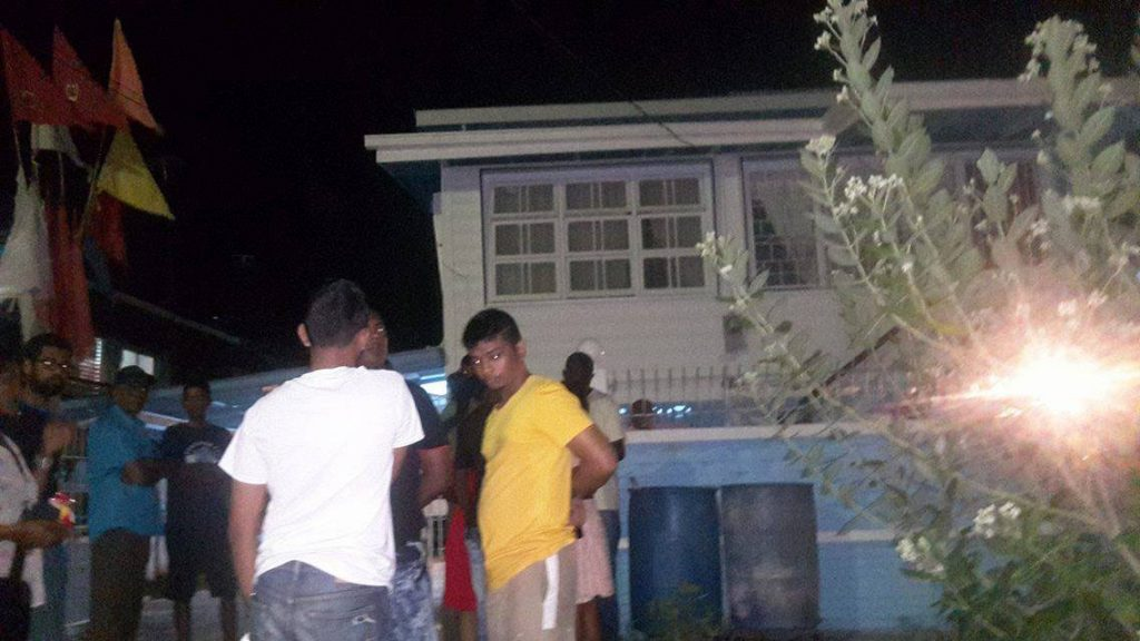 The house were the robbery took place (Stabroek News photo)