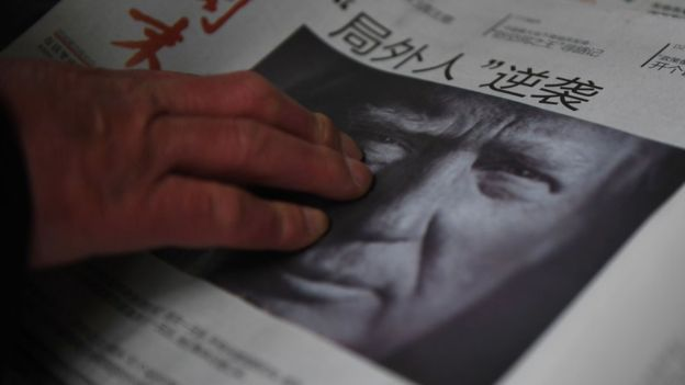 China is closely watching Mr Trump's transition to president (AFP/GETTY Images)