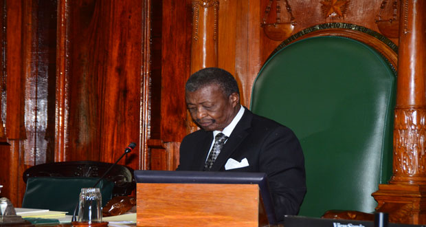 Speaker of the National Assembly,  Dr. Barton Scotland