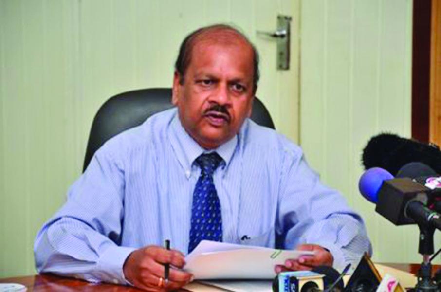 Governor of the Bank of Guyana, Dr Gobind Ganga
