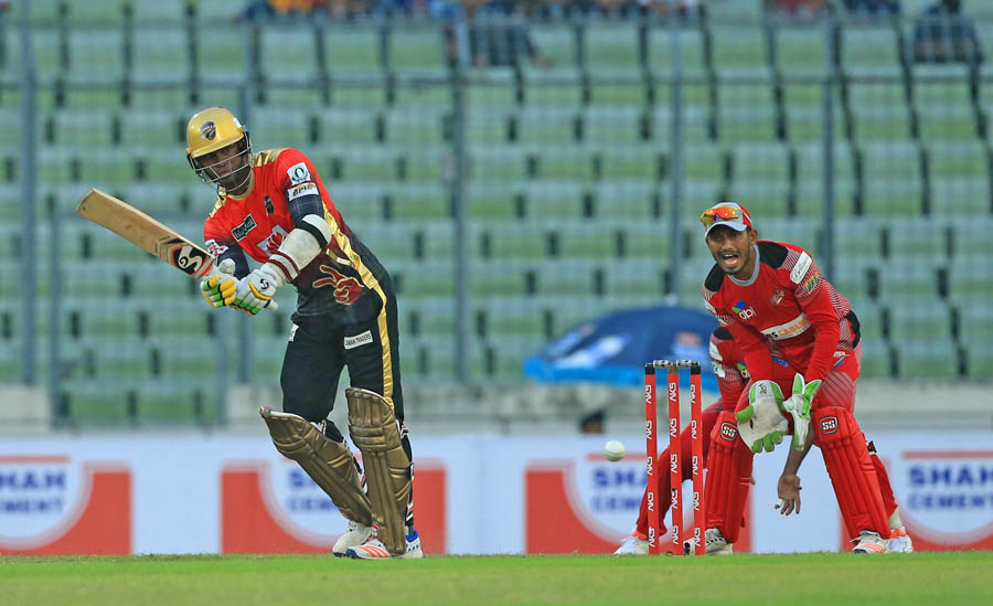 File photo - Marlon Samuels struck eight fours in his 57-ball 69 (Photo: BCB)
